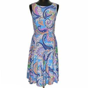 NEW! Ralph Lauren Paisley Sleeveless A Line Dress